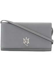 Alexander Mcqueen Amq Pouch With Strap Grey