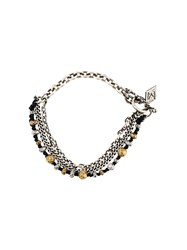 M Cohen M. Chain And Beaded Bracelet Black