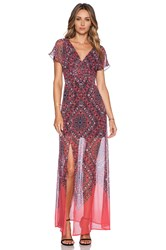 Twelfth St. By Cynthia Vincent Vintage Maxi Dress Coral