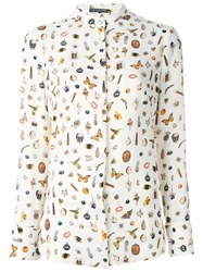 Alexander Mcqueen Obsession Print Shirt Nude And Neutrals