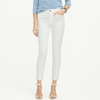 J.Crew Tall Lookout High Rise Crop Jean In White