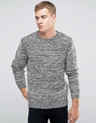 Religion Jumper With Ribbed Arm Detail White Black