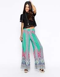 Meghan Fabulous Groovy Wide Leg Pants Mint