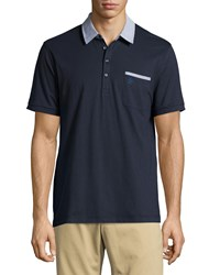 Penguin Colorblock Cotton Polo Shirt Dark Sapphire