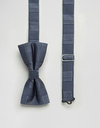 Noose And Monkey Bow Tie Navy