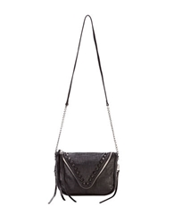 She Lo Breakthrough Studded Leather Crossbody Bag