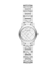 Burberry Stainless Steel Check Embossed Bracelet Watch Bu9233 Silver