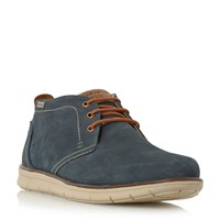 Barbour Bowlam Nubuck Lace Up Boots Navy