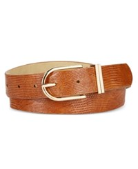 Styleandco. Style Co. Lizard Embossed Double Keeper Belt Only At Macy's Tan