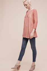 Anthropologie Skyline Pleated Tunic Coral