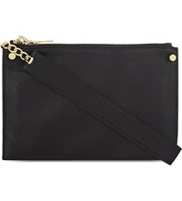 Sandro Alba Leather Cross Body Bag Noir