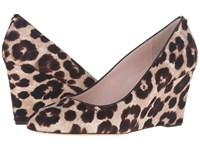 Kate Spade Amory Blush Brown Leopard Haircalf Print Women's Shoes Animal Print