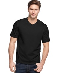John Ashford Big And Tall Solid V Neck T Shirt Deep Black
