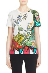 Women's Etro 'Arcade' Print Cotton Tee