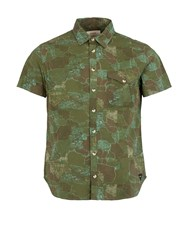 Realm And Empire Cotton Relaxed Fit Short Sleeve Shirt Military Green