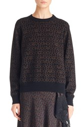 Givenchy Women's Logo Print Wool And Cashmere Sweater Black