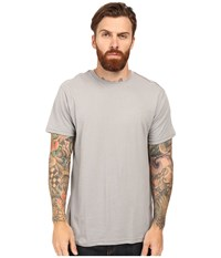 Rvca Label Vintage Wash Tee Monument Men's T Shirt Gray