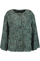 Dolce And Gabbana Embellished Boucle Tweed Jacket Blue