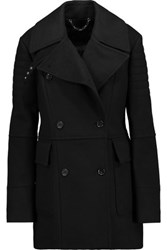 Belstaff Fayer Double Breasted Wool And Cashmere Blend Coat Black