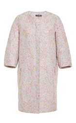 Zac Posen Garden Brocade Coat Purple