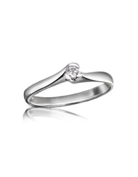 Forzieri 0.08 Ctw Diamond Solitaire Ring White Gold