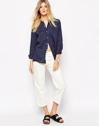 Bethnals Charlie Wide Leg Boyfriend Jeans With Roll Hem White