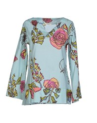 Pam And Arch Blouses Sky Blue