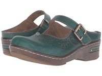 Spring Step Aneria Teal Women's Clog Mule Shoes Blue