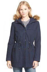 Levi's Parka With Faux Fur And Faux Shearling Blue