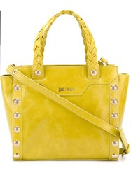 Just Cavalli Stud Detail Tote Yellow And Orange