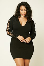 Forever 21 Plus Size Lace Up Bodycon Dress