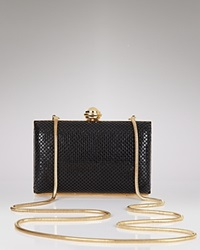 Sondra Roberts Hard Body Mesh Clutch Black Gold