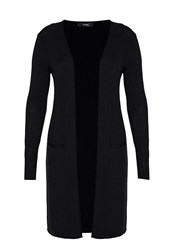 Hallhuber Long Cardigan With Side Vents Black