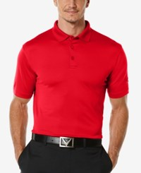 Callaway Men's Golf Performance Solid Golf Polo Tango Red