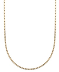 Giani Bernini 24K Gold Over Sterling Silver Necklace 24' Box Chain