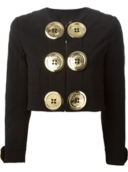 Moschino Oversized Buttons Jacket Black