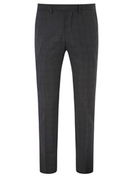 Kin By John Lewis Niton Tonal Check Slim Fit Suit Trousers Charcoal