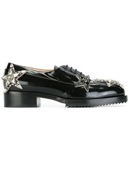 N 21 No21 Stars Embellished Lace Up Shoes Black