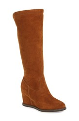 Johnston And Murphy Women's 'Rebecca' Wedge Boot Cognac Suede