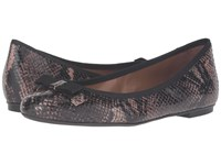 French Sole Sara Brown Snake Print Leather Women's Flat Shoes