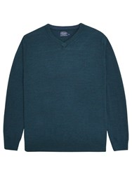 Joules Retford V Neck Jumper Dark Teal Marl