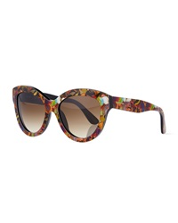 Camouflage Butterfly Sunglasses Valentino
