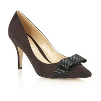 Lotus Tiesha Open Toe Court Shoes Black