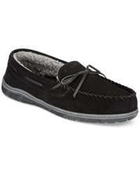 Rockport Men's Slippers Faux Fur Lined Moccasins Black