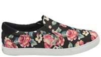 Gola Delta Floral Slip On Pumps Black