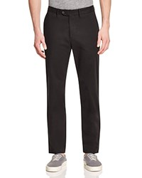 Todd Snyder Sanded Twill Regular Fit Chino Pants 100 Bloomingdale's Exclusive Black