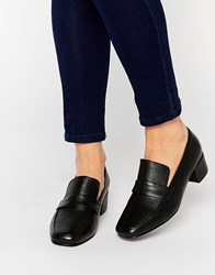Park Lane High Vamp Leather Loafers Black