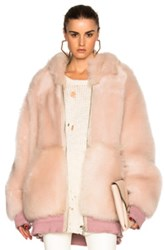 Faith Connexion Reversible Fur Oversized Jacket In Pink