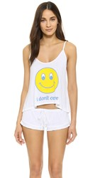 Wildfox Couture I Don't Care Sleepover Pj Set Clean White