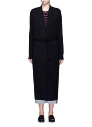 Elizabeth And James 'Olive' Belted Merino Wool Robe Cardigan Black